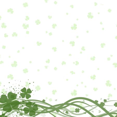 four leafed clover: St Patricks day background
