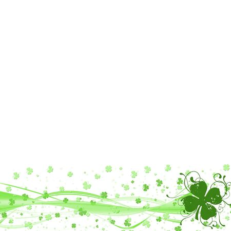 clover leaf shape: St Patricks Day border