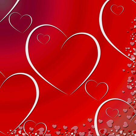 gradient heart background