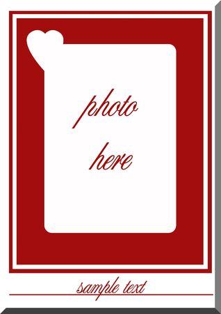 occassion: valentine frame Stock Photo