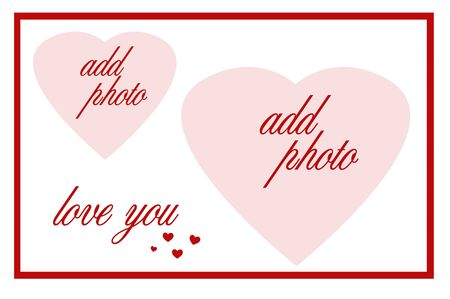 two hearts love you frame Stock Photo