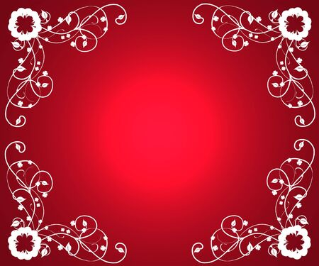 red gradient background with frilly corners Stock Photo