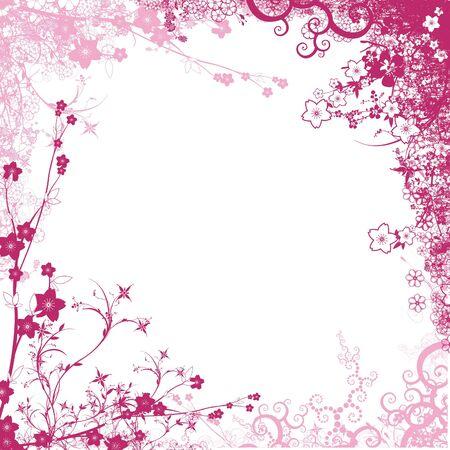 pink foliage isolated on white background