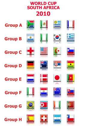 world cup groups flags  Illustration
