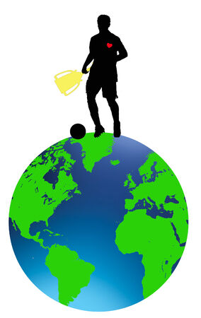 world cup 2010 on top of the world  Illustration