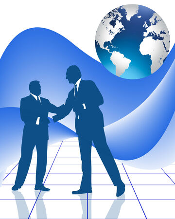 manos unidas: �xito en el apret�n de manos de negocio