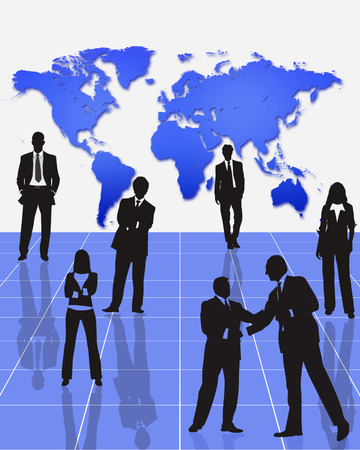 joined hands: business people