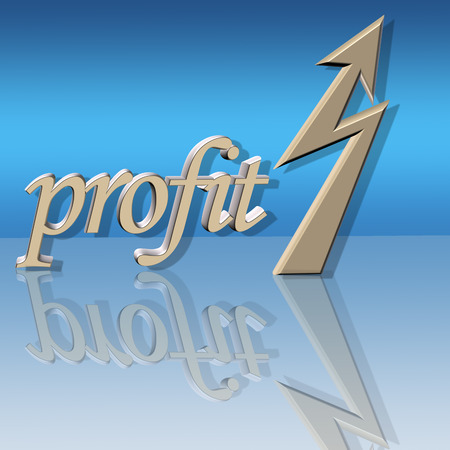 upward graph: increased profit