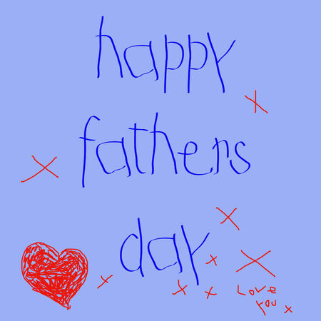 happy fathers day childs note vector Vector