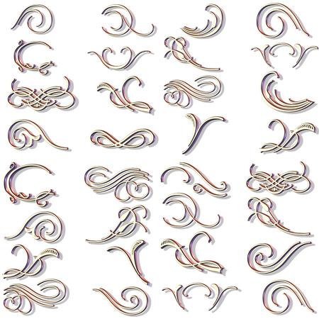ornaments in 3d vector