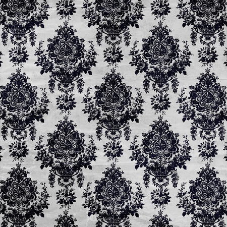 posh: damask wallpaper with creases