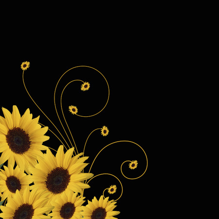 sunflowers abstract Stock Vector - 7119837