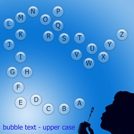 bubble text in upper case Illustration