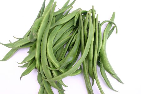 Green beans isolated. photo