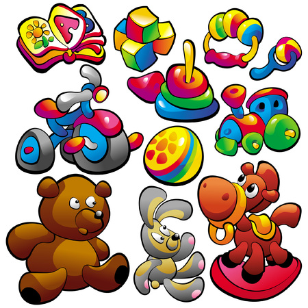 playthings: Baby toy Illustration