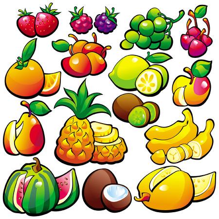 banana caricatura: El fruto