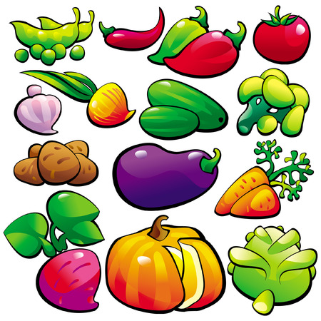 The vegetables Vector