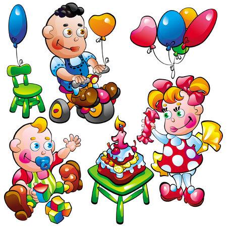 Baby birthday. Illustration