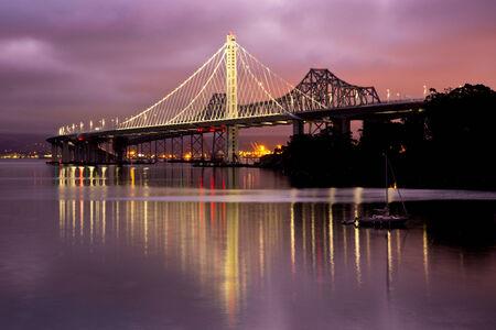 oakland: New San Francisco to Oakland Bay Bridge Stock Photo
