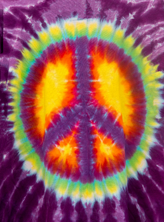 sign: Peace Sign Tie-Dye