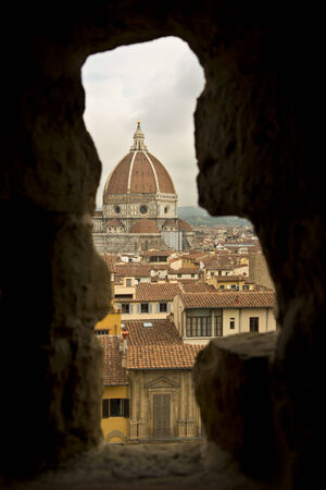 Florence Duomo Through Tower