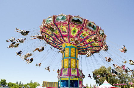 tickets: State Fair Carnival Ride Stock Photo