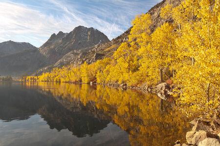 California Sierra Autumn Lake Color