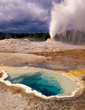 Yellowstone Geyser and Sulfur Pool