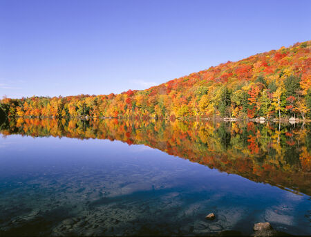 New Hampshire Pond in Autumn