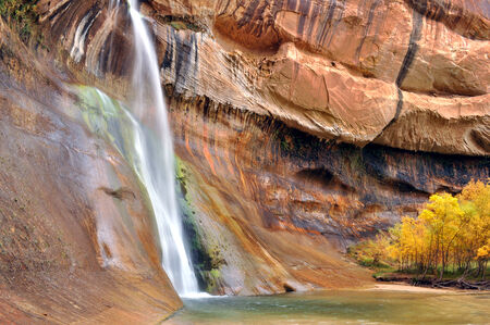 Lower Calf Creek Waterfalls Banco de Imagens