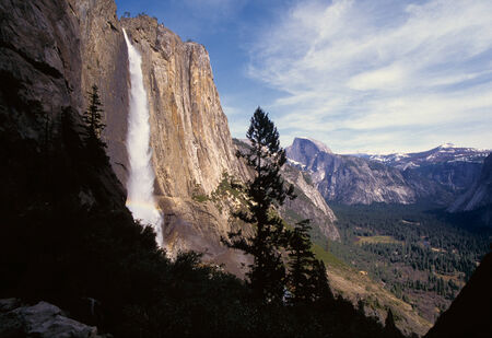 john muir trail: Yosemite National Park Waterfalls and Half Dome