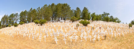 Memorial Crosses for Soldiers Killed in Iraq and Afghanistan