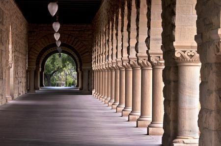 知識の建築の柱 写真素材