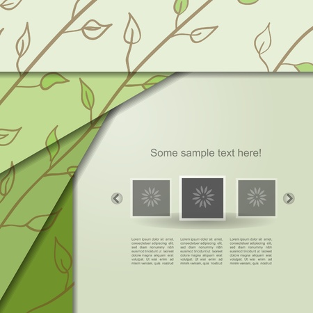 Nature abstract portfolio with leaf Vector