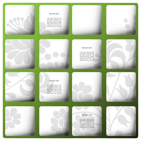 Nature green vector blog design Illustration