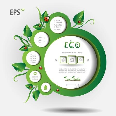sidebar: Nature modern bio blog with leaf Illustration