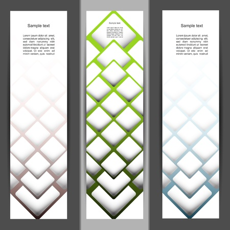 Horizontal coorful creative banner set Vector
