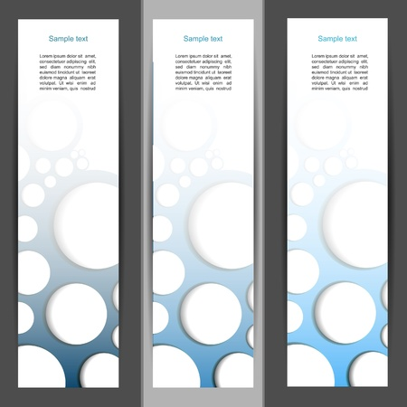Blue horizontal  banner set