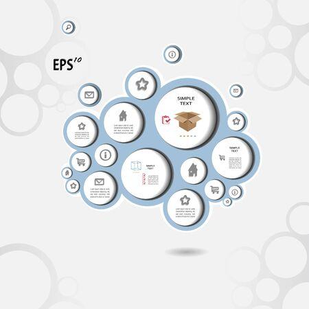 Modern silver  blog with circle Stock Vector - 13345432