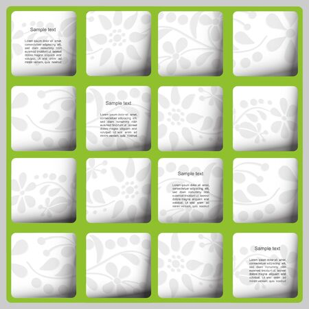 Green modern  text box with flower pattern Illustration