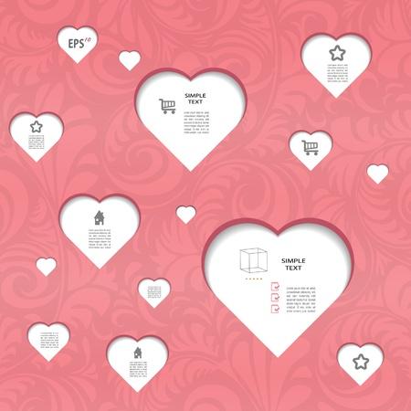 Pink modern sweet  blog set with pattern