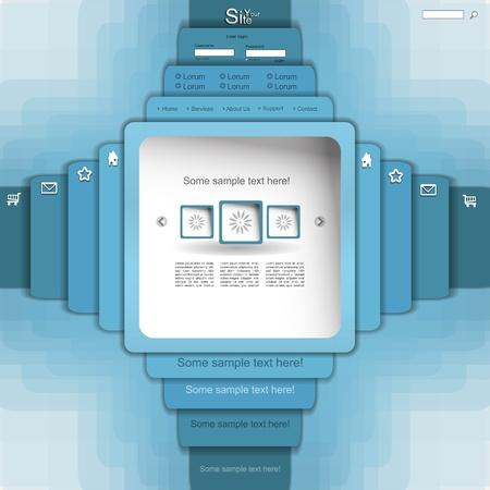 Blue vector website template Stock Vector - 13345288