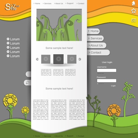 Colorful spring natural website design