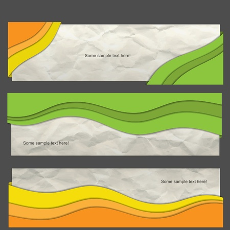 Modern  banner set with wave Vector