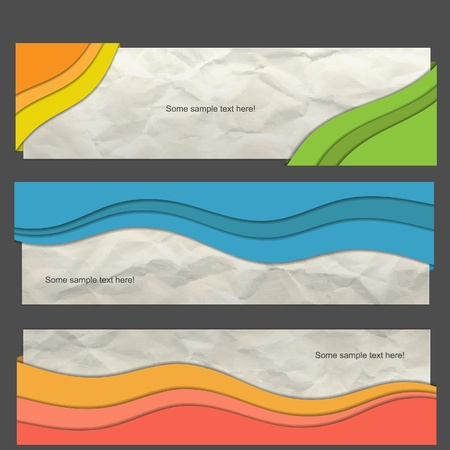 creative  banner set Vector