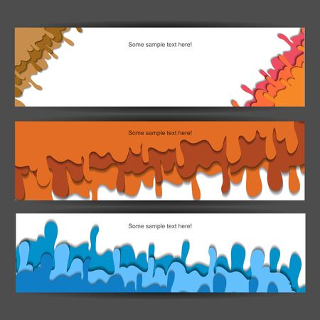 Colorful funny  banner set with spray Vector