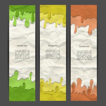 grune: Colorful banner set Illustration
