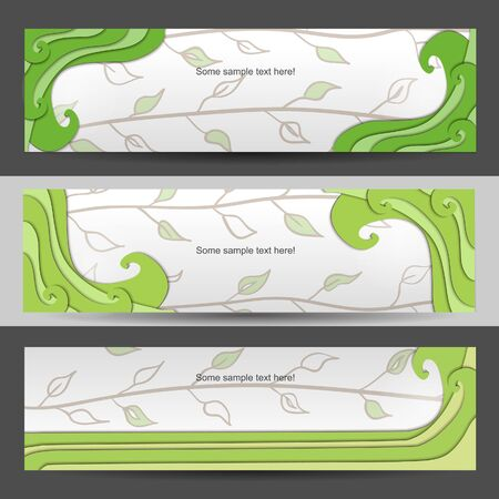 Nature  banner set with wave Vector