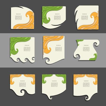 Creative colorful paper design