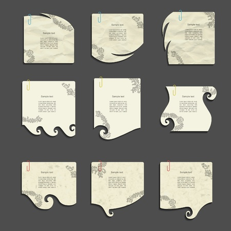 Modern creative note set Vector